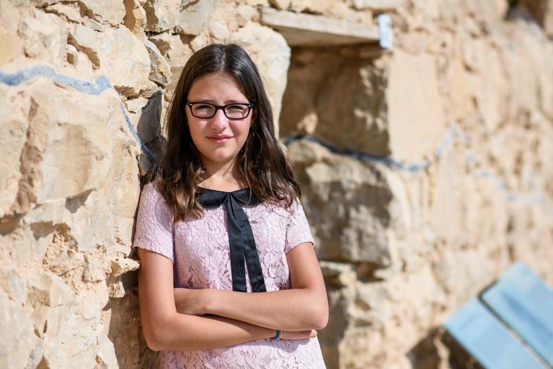 Bnot Mitzvah Standing at Ancient Stones of Masada