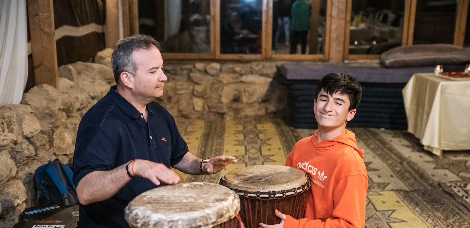 Family jams on Jaman's drums