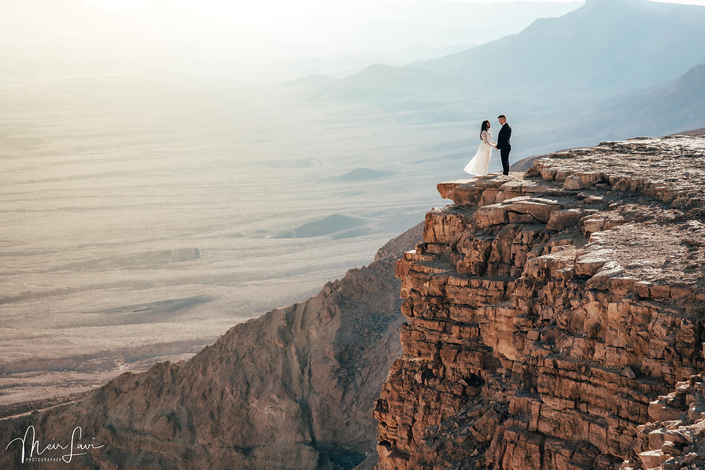 A wedding above the Ramon Crater, Israel