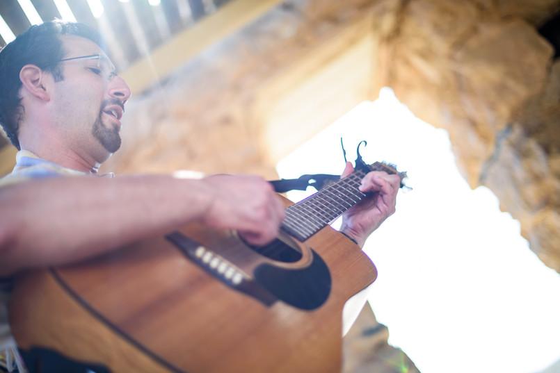 Cantor Evan Cohen Plays Guitar at Masada Bnot Mitzvah