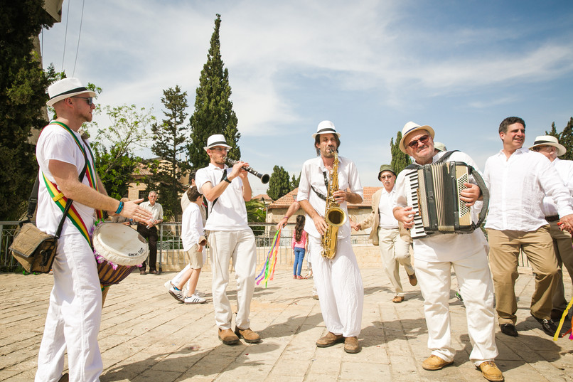 Drummer's Circle at Bat Mitzvah in Jerusalem.