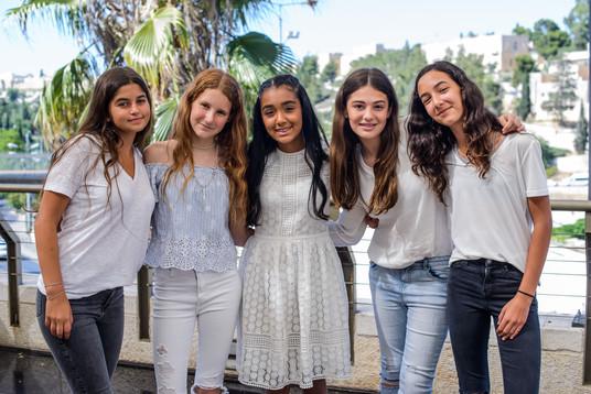 Bat Mitzvah girl with her Israeli friends