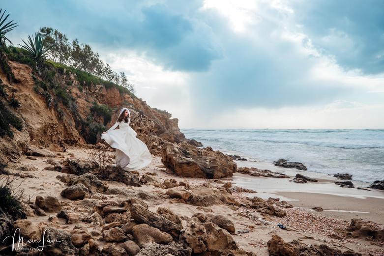Bride on Israeli Beach