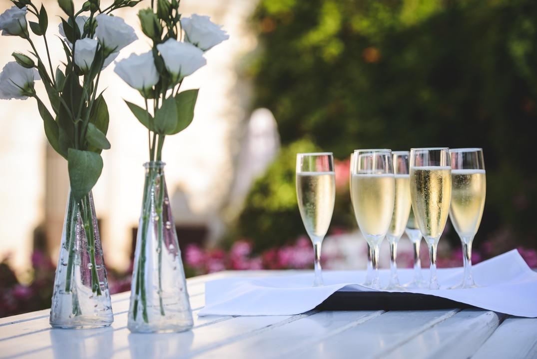 Champagne at Mt. Zion Hotel in Jerusaelm