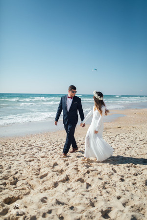 Bride & Groom on Israeli Beach