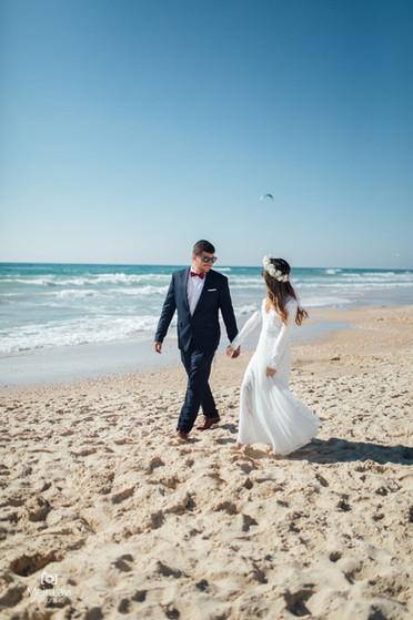 Bride & Groom on Israeli Beach