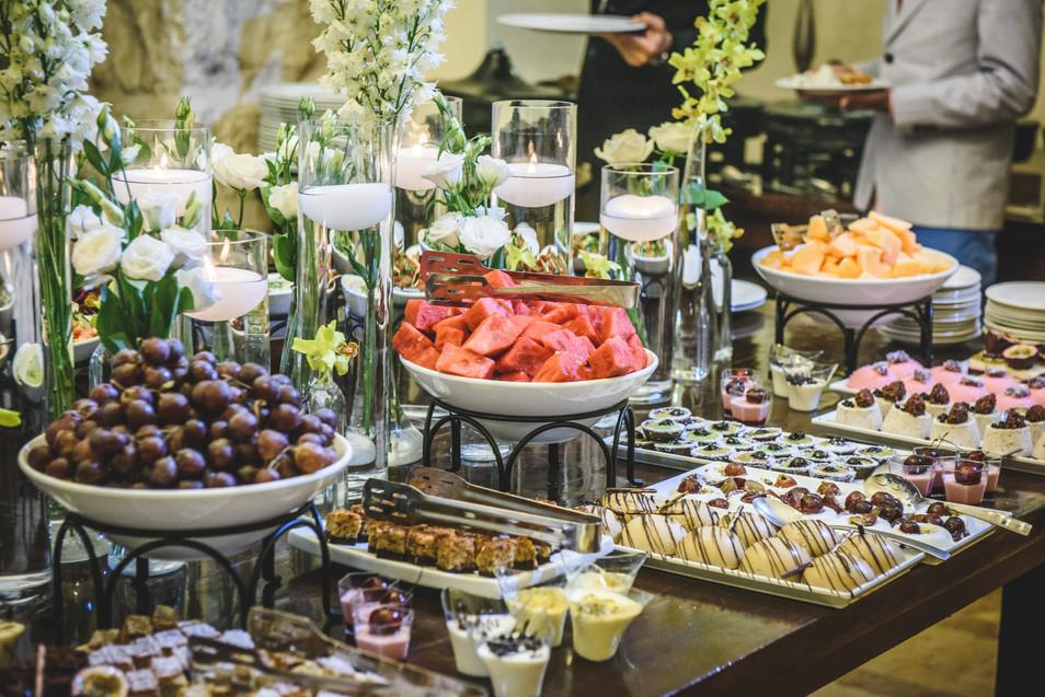Dessert at the Mt. Zion Hotel in the Villa.