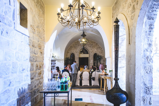 A bar mitzvah in the Villa of the Mt. Zion Hotel