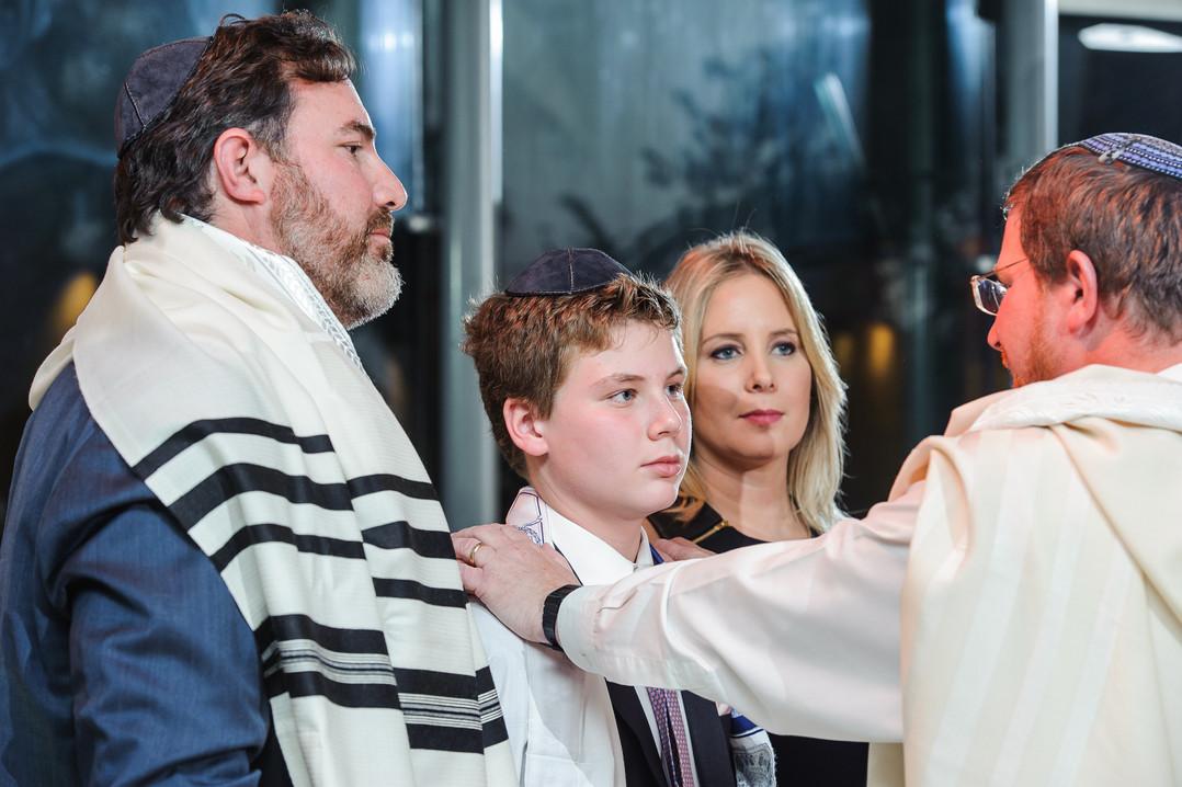 Rabbi Blesses Bar Mitzvah Boy