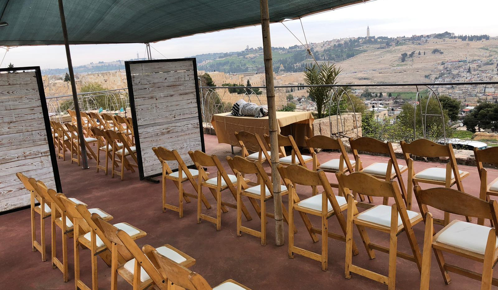 Rooftop event at Harp of David