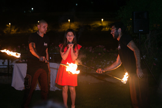 Jaman Fire Show at Mt. Zion Hotel.