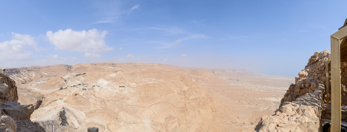 Scene from the Cable Car in Masada
