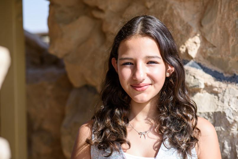 Bnot Mitzvah Girl on Masada