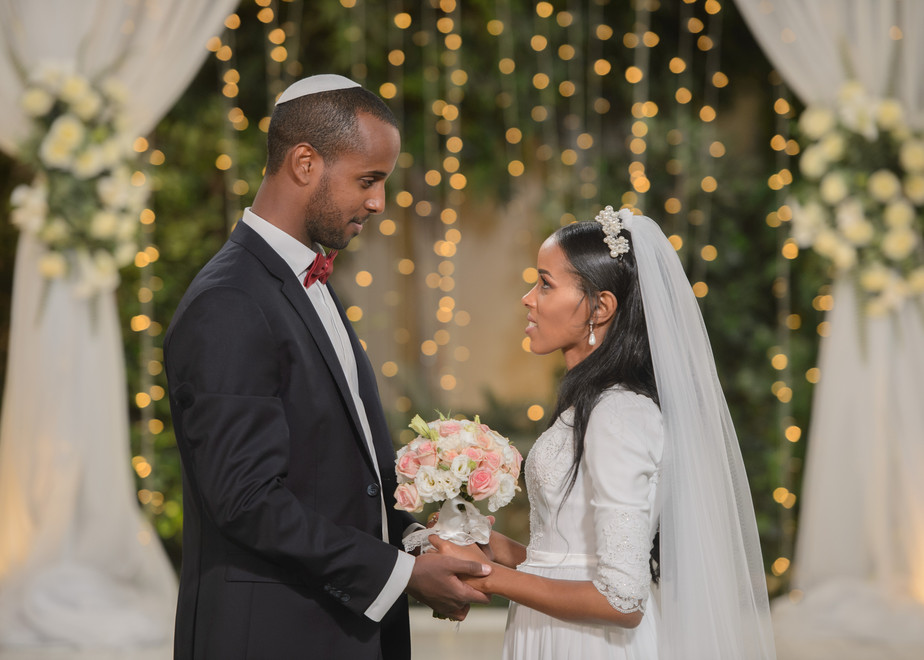 Bride and groom at the Chuppah