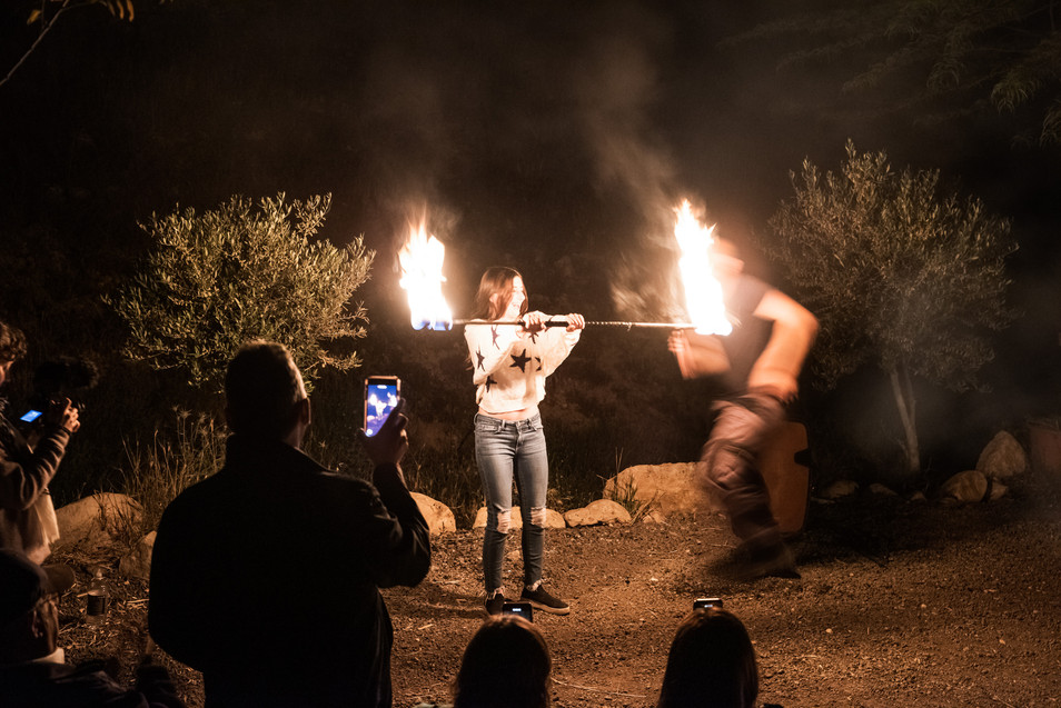 Bat Mitzvah with Jaman Fire & Light Show