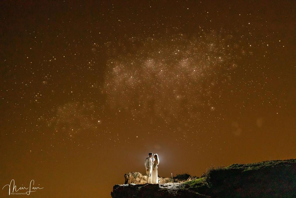 Bride & Groom on Israeli Desert Cliff