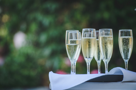 Champagne at Bar Mitzvah at the Mt. Zion Hotel in Israel