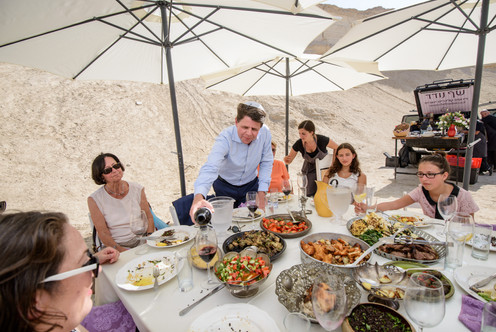 Amazing Cusine in Chef Noded in the Judean Desert