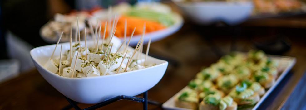 Reception food at Terasa