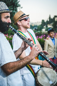 Bar Mitzvah in Jerusalem with drummer's circle
