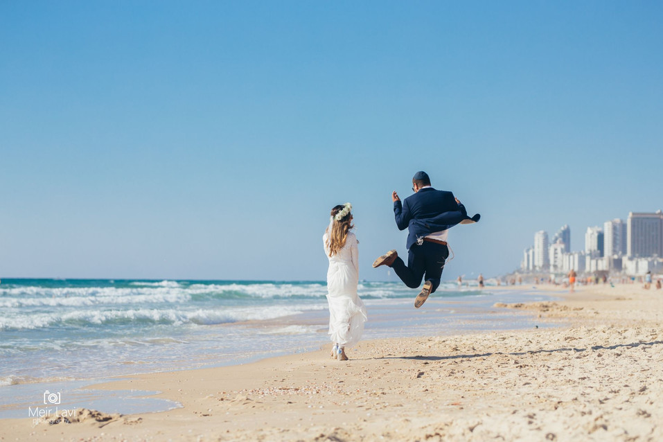Bride & Groom on Tel Aviv Beach