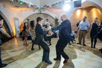 Bar Mitzvah Boy dances with guest at Beit Shmuel