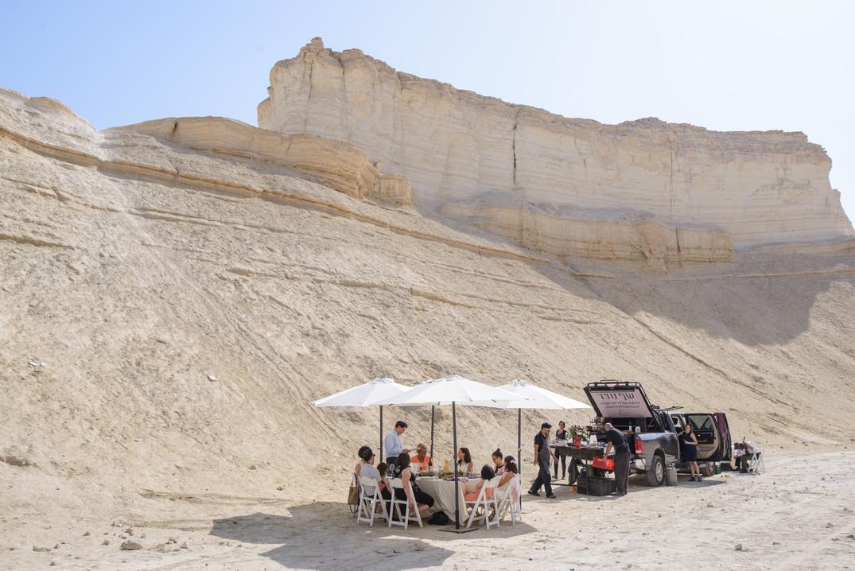 Scene of a Private Chef Event in the Desert