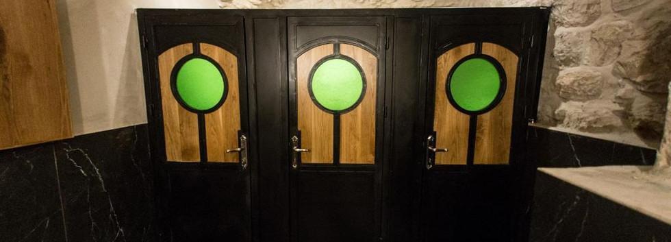 Wine Temple Bathroom Doors