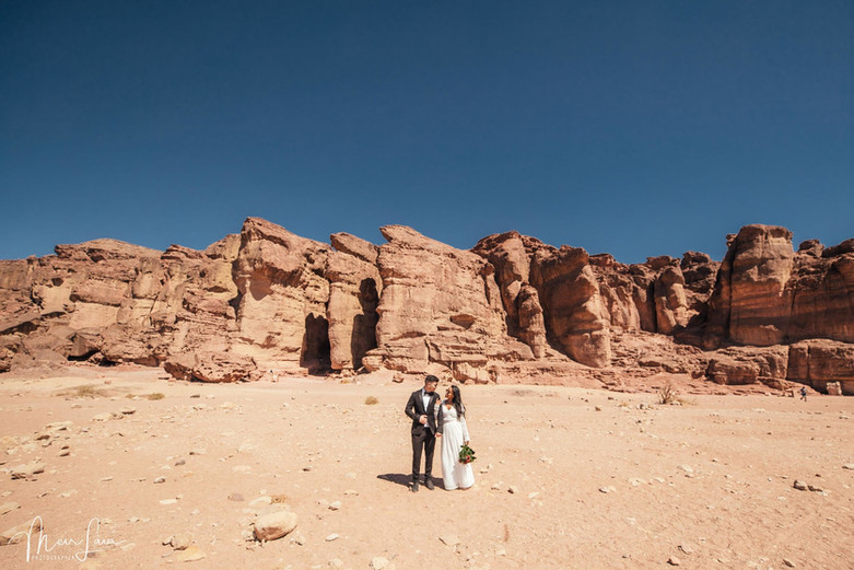 Bride & Groom in the Judean Desert