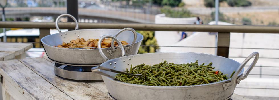 Buffet on Terrace at Terasa