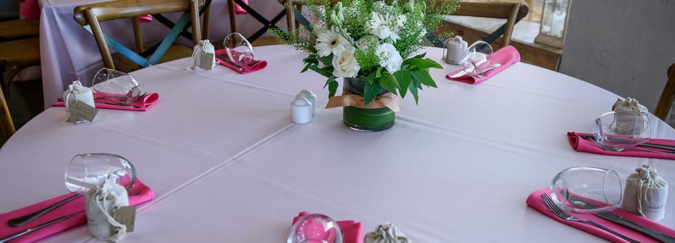 Table decor at Terasa