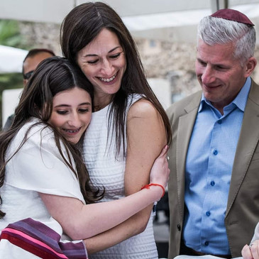 Bat Mitzvah Family at Robinson's Arch