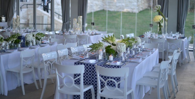 Navy white decor by Mookie and a la