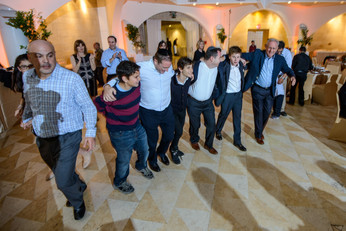 Joyous dancing at Bar Mitzvah