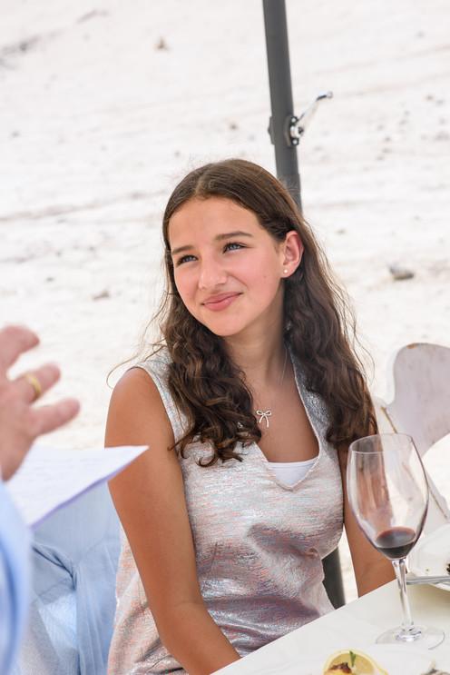 Bnot Mitzvah Girl at Her Celebration
