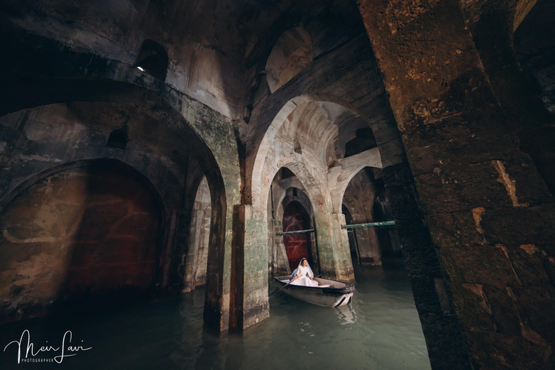 Bride on Boat in Pool of Arches, Ramla