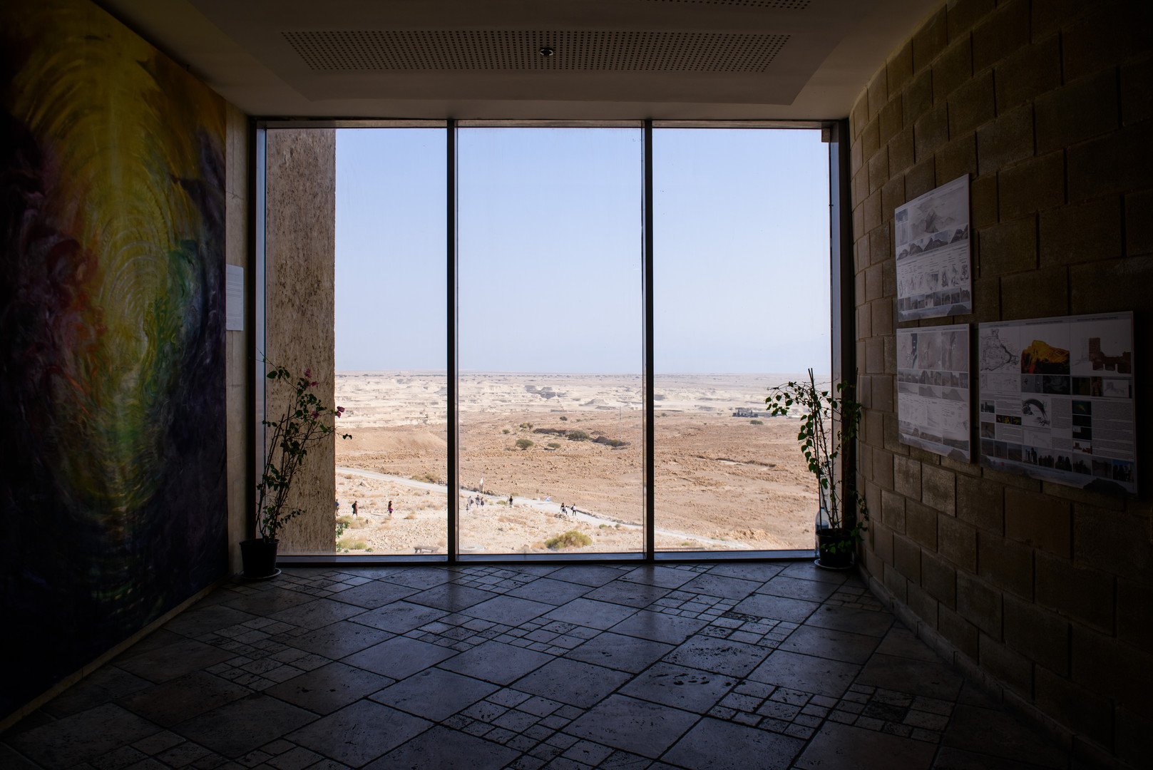 Scene from a Window in Ancient Masada Structure