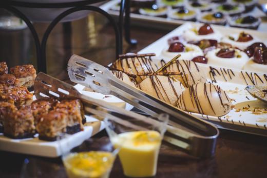 Dessert at the Mt. Zion Hotel Villa