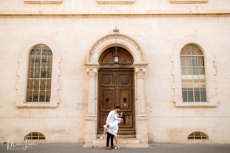 Bride & Groom Embrace in Israel