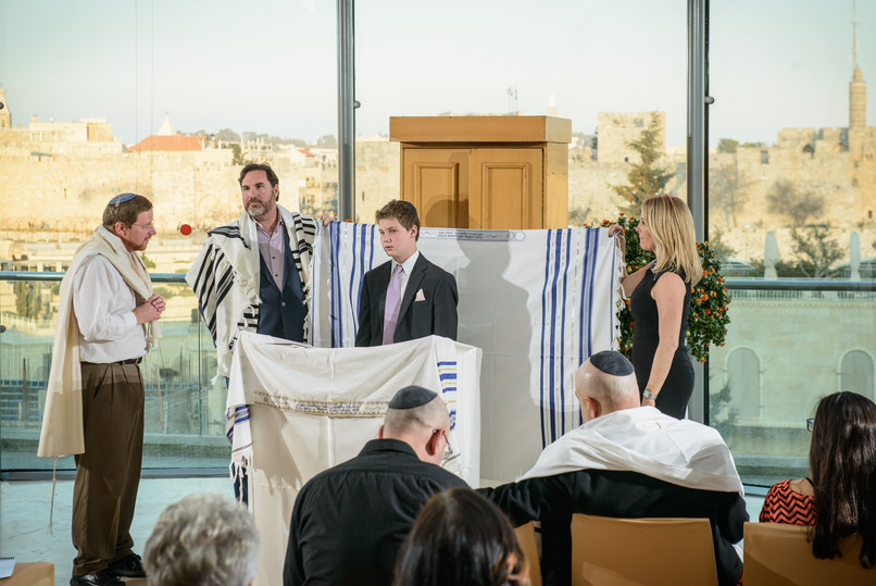 Bar Mitzvah at Beit Shmuel with Rabbi David Wilfond Officiating