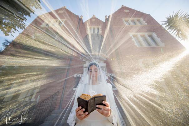 Religious Bride at Kfar Chabad