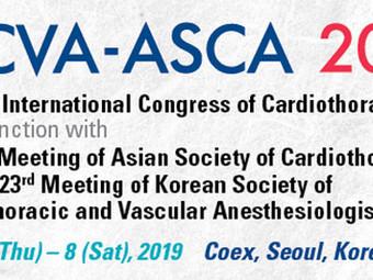2019 세계심폐혈관마취학회(ICCVA, International Congress of Cardiothoracic and Vascular Anesthesia) 학술대회 참가