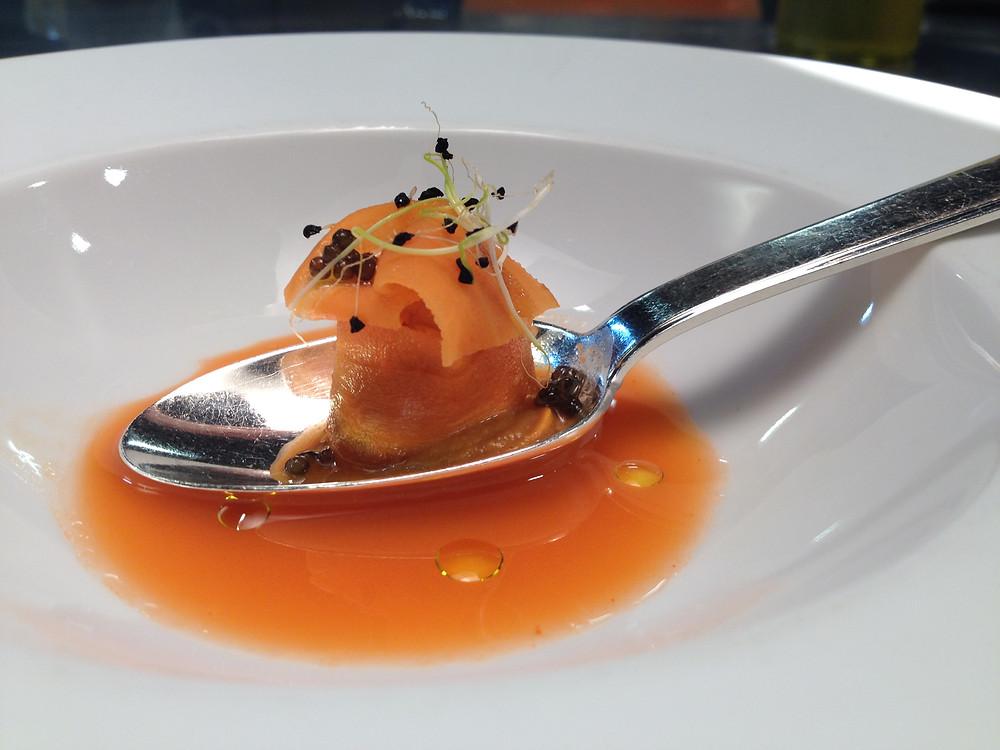 Ravioli de zanahoria encurtida Toño Pérez - GastroMadrid