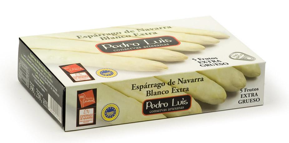 ESPARRAGO DE NAVARRA BLANCO EXTRA 5 F. EXTRA GRUESO