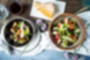 Ensalada mixta de higos y Parmigiano (Re