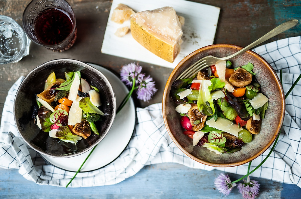 Ensalada mixta de higos y Parmigiano (Recetas) - GastroMadrid