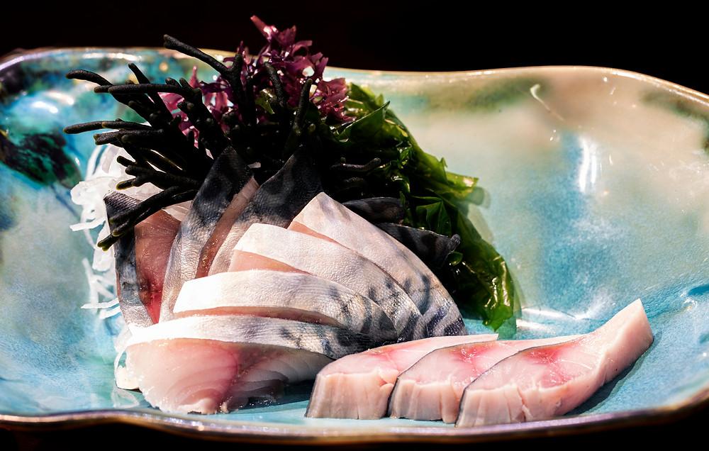 Sashimi de caballa con vinagre de Jerez (Kabuki Wellington) - GastroMadrid