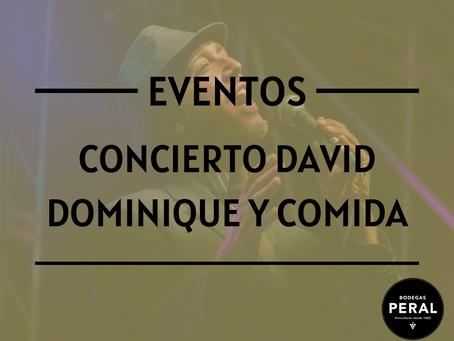 """Concierto de David Dominique y Comida """"Catering"""" el próximo 1 de mayo"""