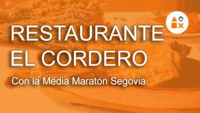 Restaurante El Cordero con la Media Maratón Segovia