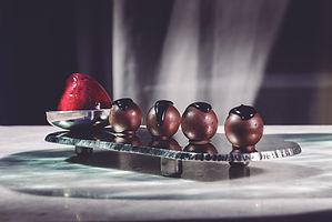 Bombones líquidos de chocolate blanco (C